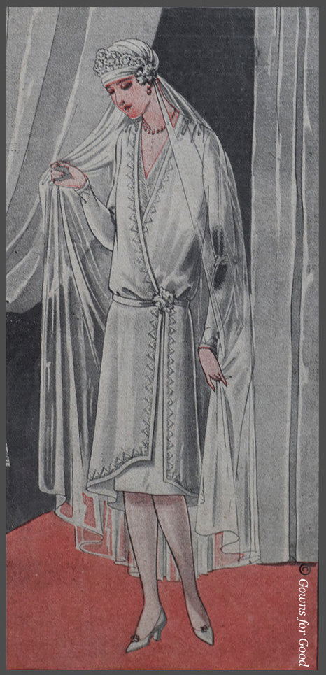 1927 wedding dress from the Praktische Damen- und Kinder-Mode project