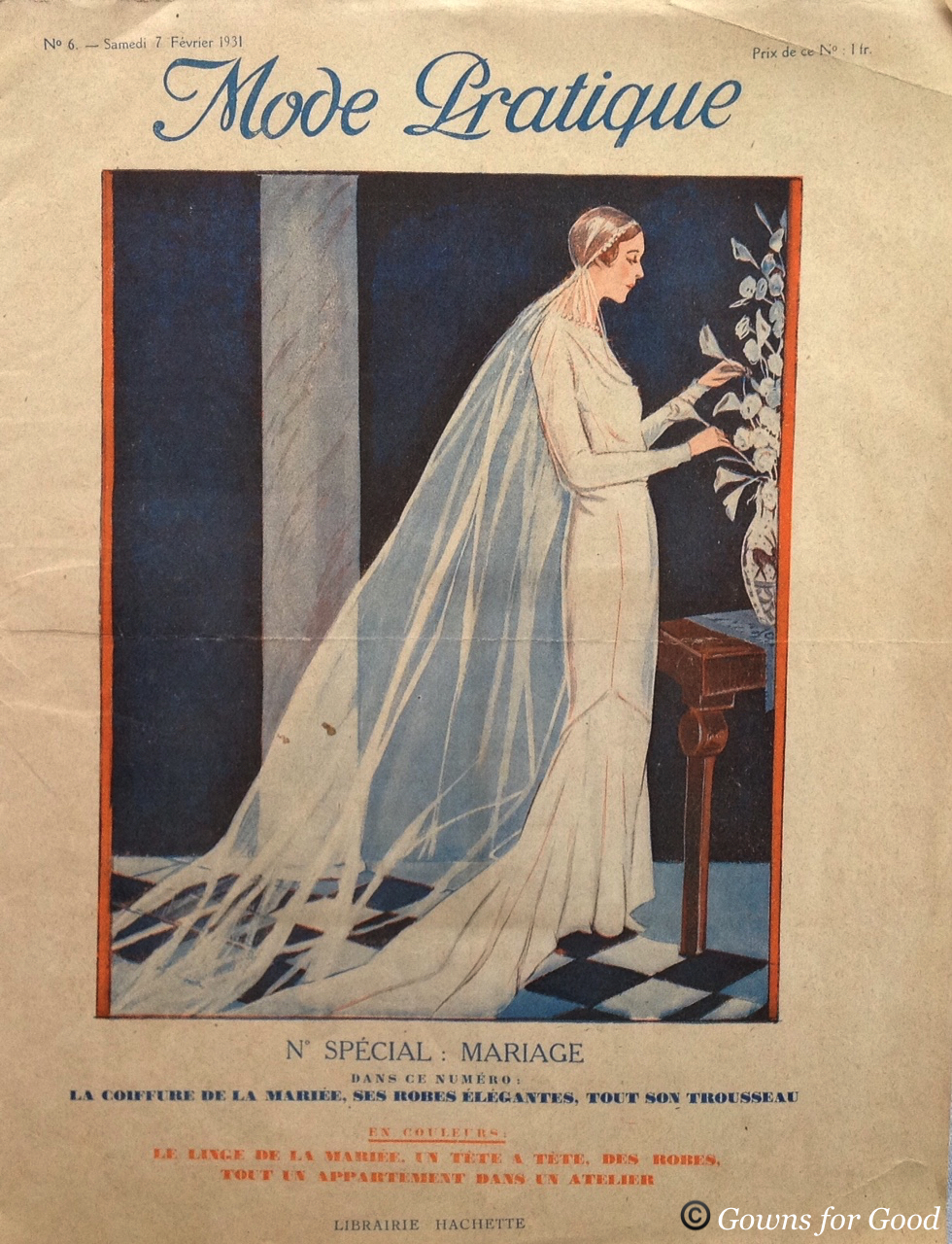 1931 Mode Pratique wedding dress