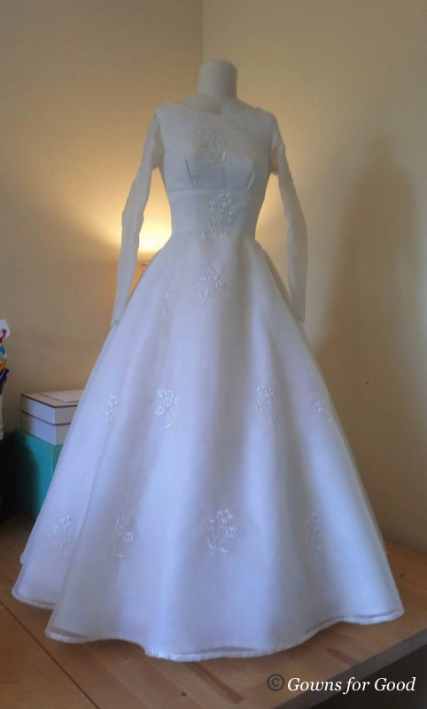 1964 wedding dress petticoat 1960s robe de mariée jupon années 60